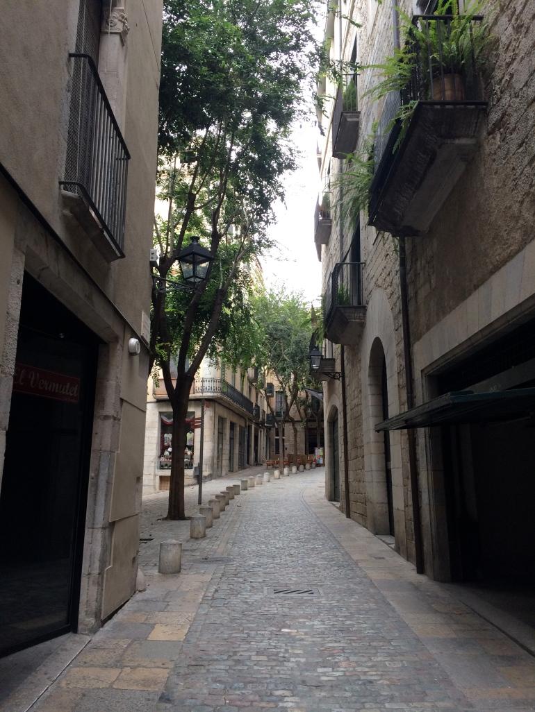 Winding streets of Girona