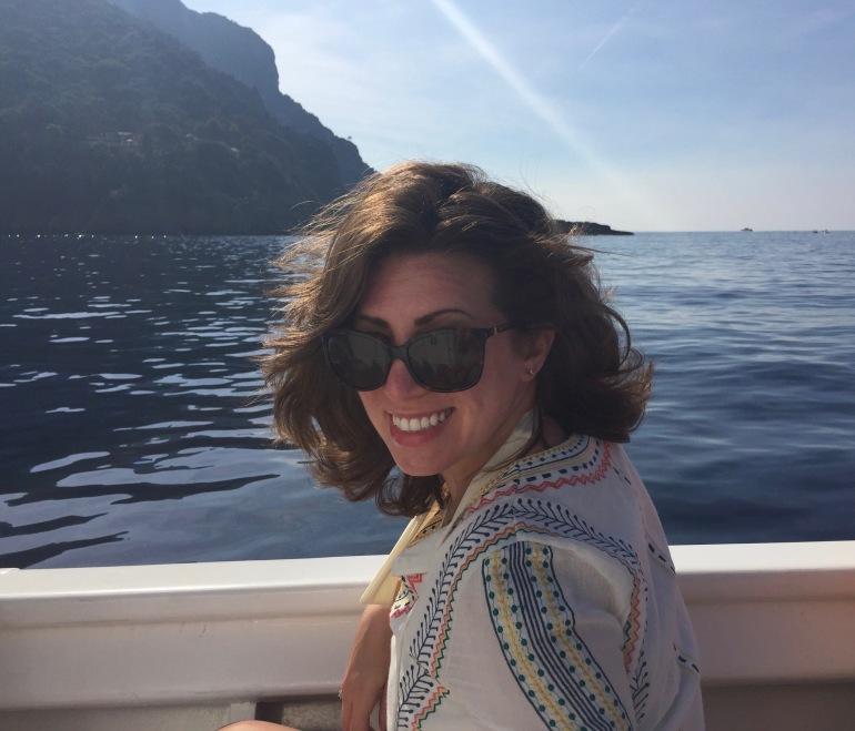 Barbara on boat
