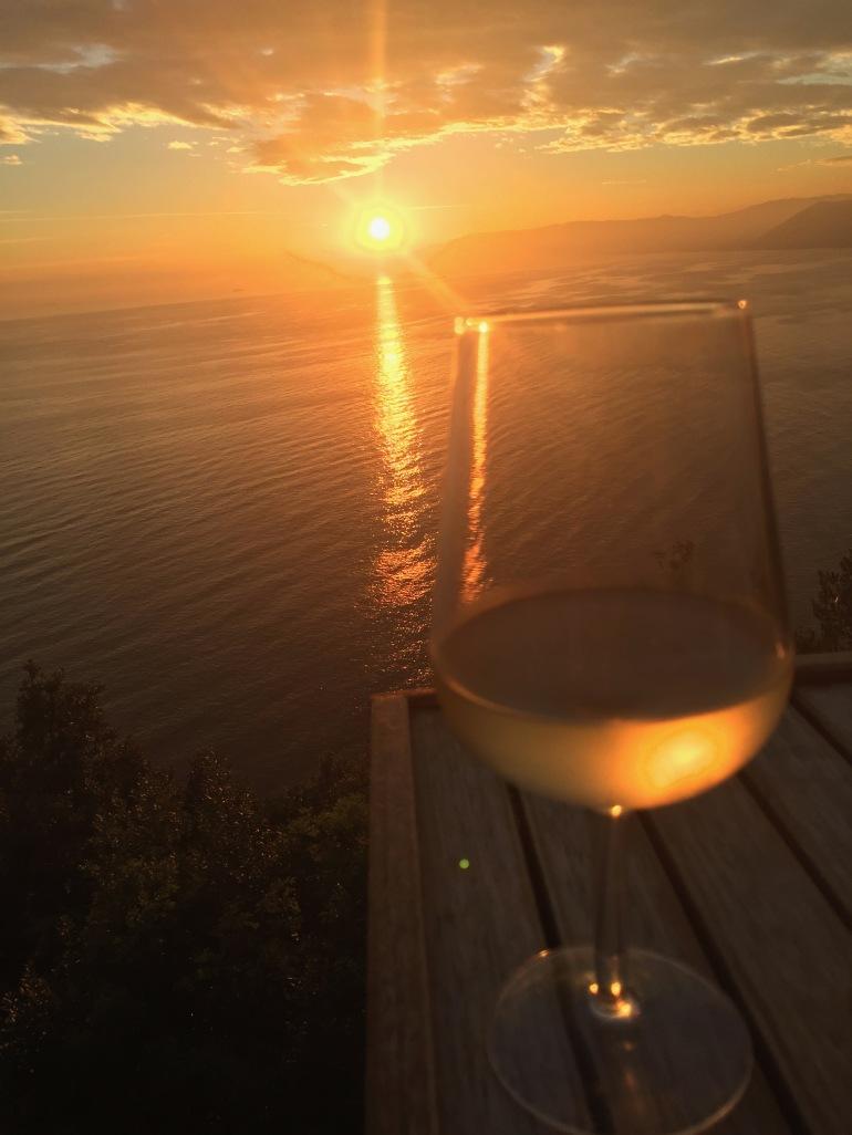 Glass of wine at Bar Dai Muagetti