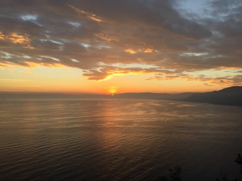 Perfect Ligurian sunset