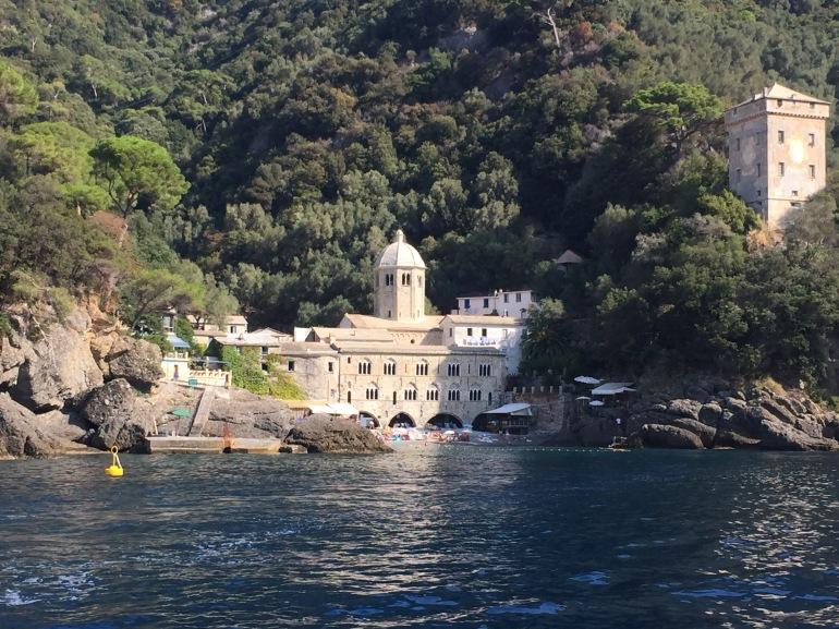San Fruttuoso from boat